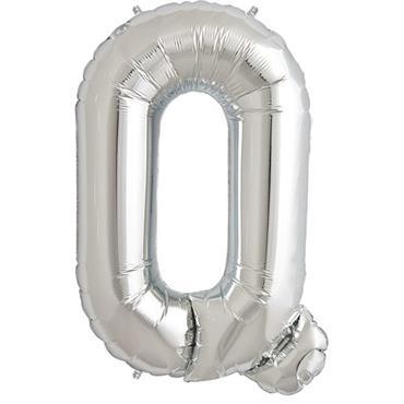 "34"" Silver Letter Q Balloon"