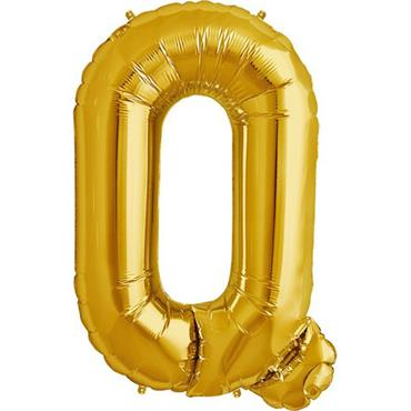 "34"" Gold Letter Q Balloon"