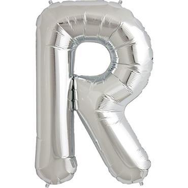 "34"" Silver Letter R Balloon"