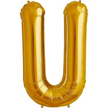 "34"" Gold Letter U Balloon"