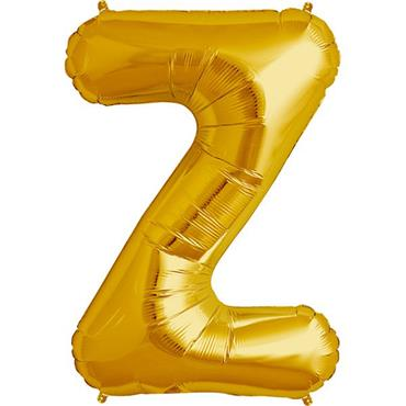 "34"" Gold Letter Z Balloon"