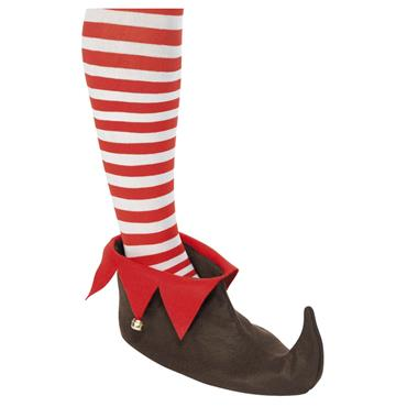 ELF SHOES BROWN RED WGOLD BELL