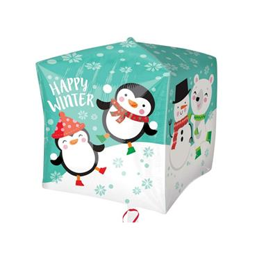 "15"" Christmas Penguin & Bear Cubez Foil Balloon"