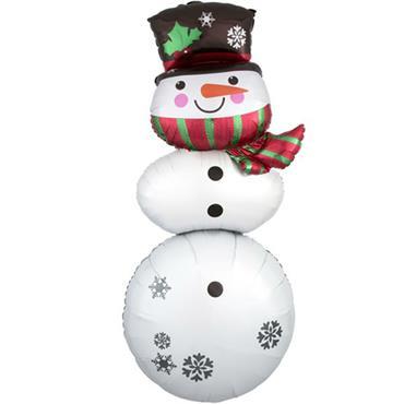 """61"""" Snowman Stacker Foil Balloon"""