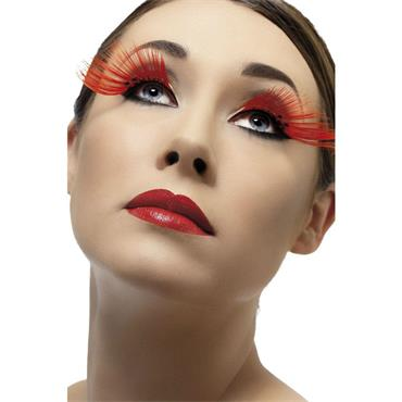 Eyelashes, Red with Diamante
