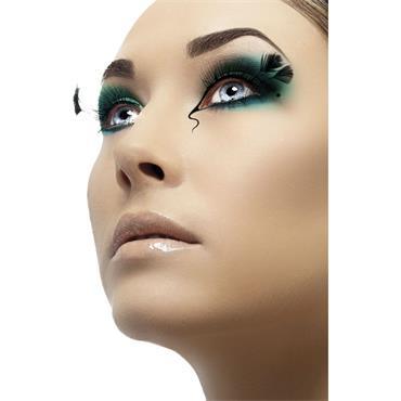 Eyelashes, Black with Corner Plumes