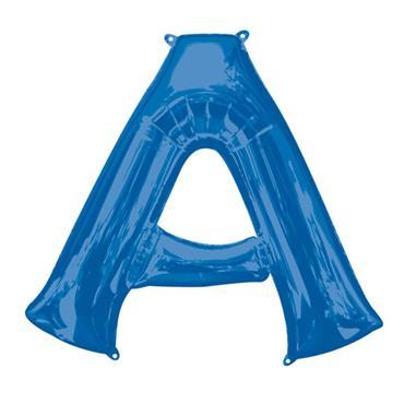 "34"" Blue Letter A Balloon"