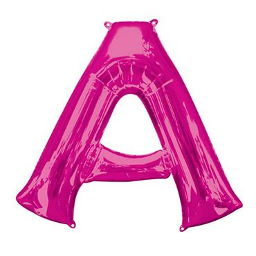 """34"""" Pink Letter A Balloon"""