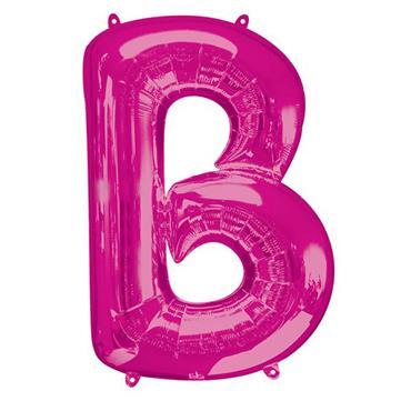 "34"" Pink Letter B Balloon"