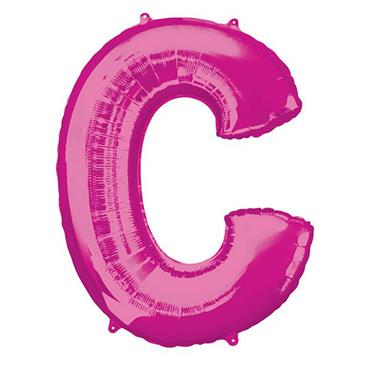 """34"""" Pink Letter C Balloon"""