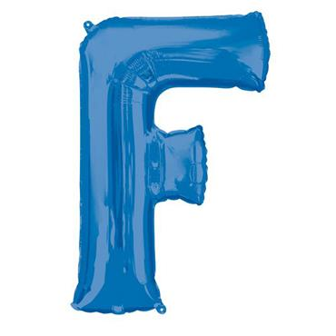 "34"" Blue Letter F Balloon"