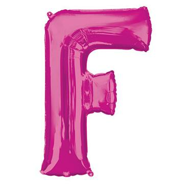 """34"""" Pink Letter F Balloon"""