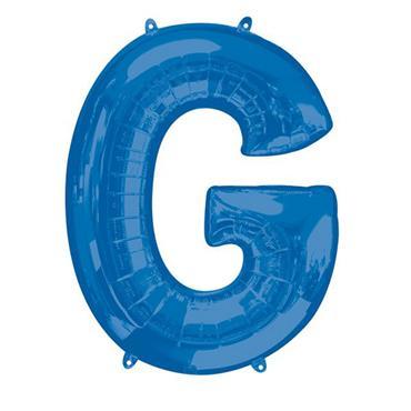 """34"""" Blue Letter G Balloon"""