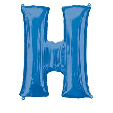 "34"" Blue Letter H Balloon"