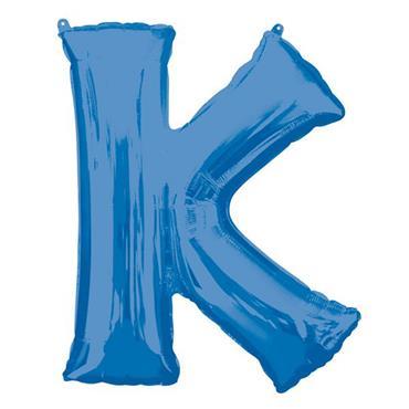 """34"""" Blue Letter K Balloon"""