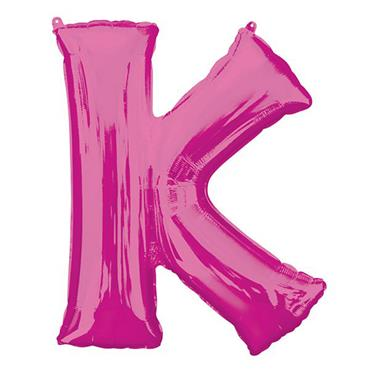 "34"" Pink Letter K Balloon"