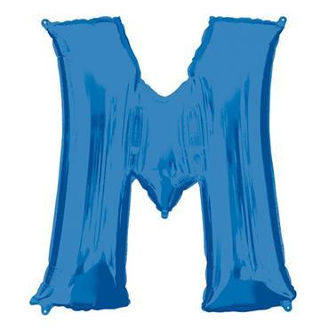 "34"" Blue Letter M Balloon"