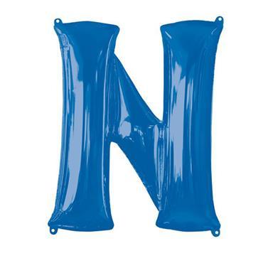 "34"" Blue Letter N Balloon"