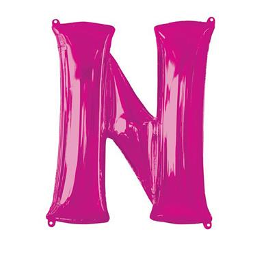 """34"""" Pink Letter N Balloon"""