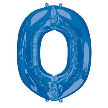 """34"""" Blue Letter O Balloon"""