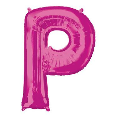 """34"""" Pink Letter P Balloon"""