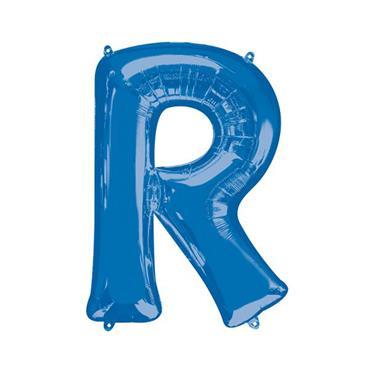 "34"" Blue Letter R Balloon"