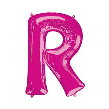 """34"""" Pink Letter R Balloon"""