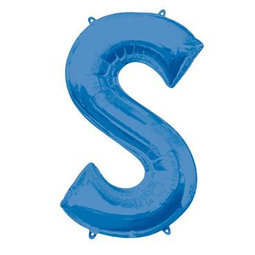 "34"" Blue Letter S Balloon"