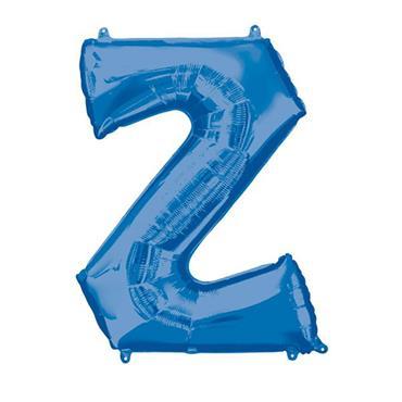 "34"" Blue Letter Z Balloon"