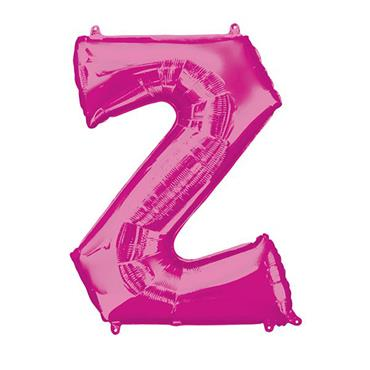 """34"""" Pink Letter Z Balloon"""