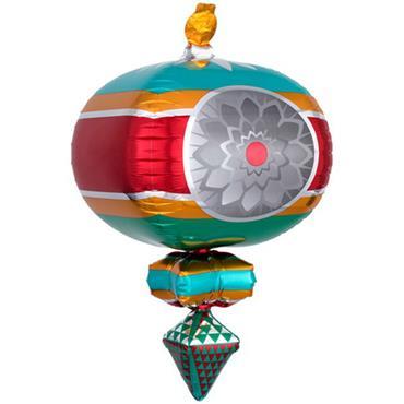 """23"""" Retro Ornament Ultra Shape Foil Balloon"""