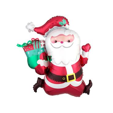 "27"" Running Santa Supershape Foil Balloon"