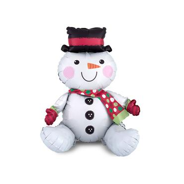 "21"" Sitting Snowman Foil Balloon"