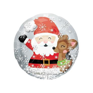 "24"" Santa & Cute Deer Insider Foil Balloon"