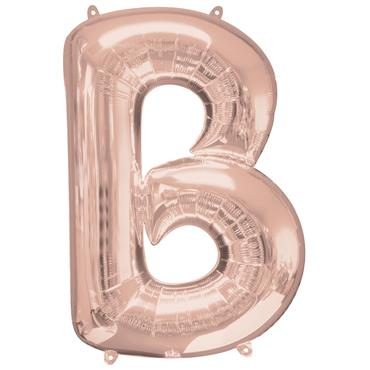 "34"" Rose Gold Letter B Balloon"