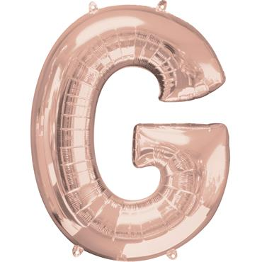 "34"" Rose Gold Letter G Balloon"