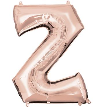 "34"" Rose Gold Letter Z Balloon"