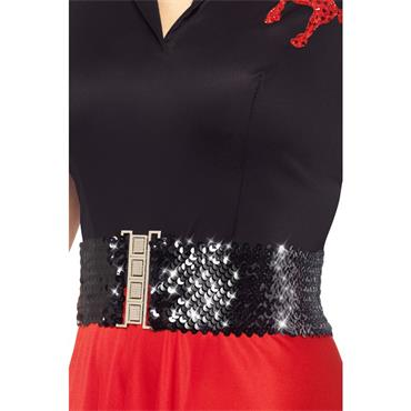 Waist Belt, Black, With Sequins