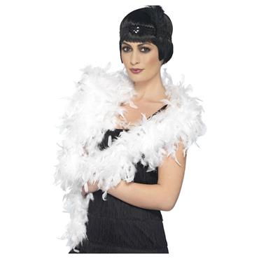 Deluxe Feather Boa - White