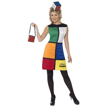 Rubik's Cube Costume With Headband