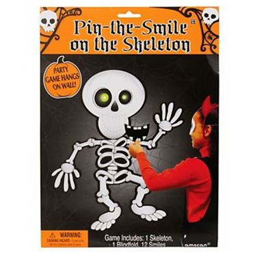 Pin the Smile on the Skeleton Game