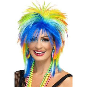 80's Rainbow Punk Wig - Pride