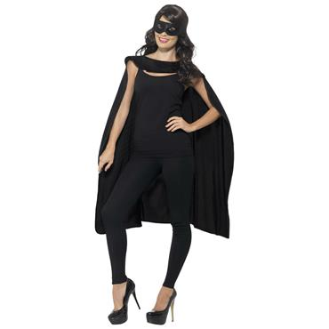 Black Cape wih Eye Mask