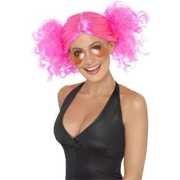 80'S Bunches Wig, Pink