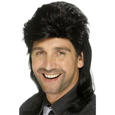 Mullet Wig,Black