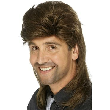 Mullet Wig, Brown
