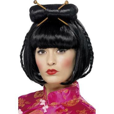 Oriental Lady's Wig - Black