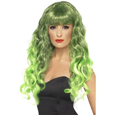 Black & Green Siren Wig