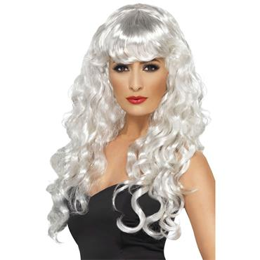 White Siren Wig Long & Curly