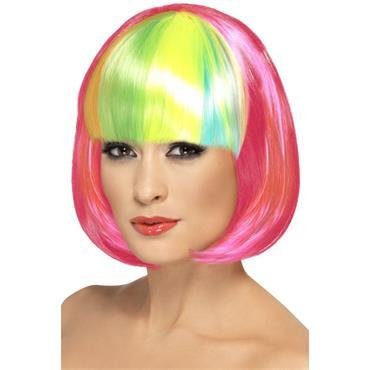 Partyrama Wig, 12 Inch, Neon Pink/Pride